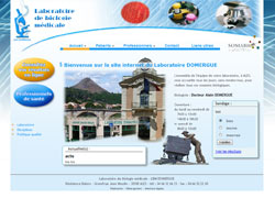 Site internet du laboratoire Domergue